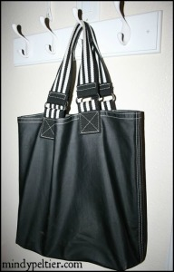 black tote bag large pm