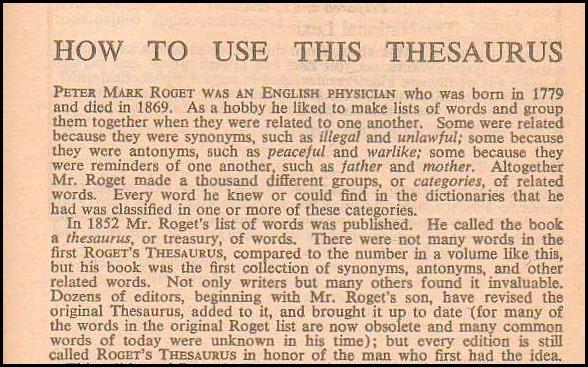 Thesaurus history