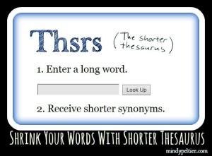 shorter thesaurus 3