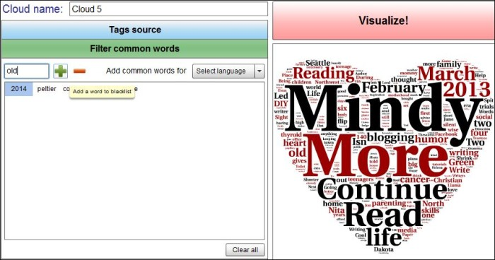 Word filter