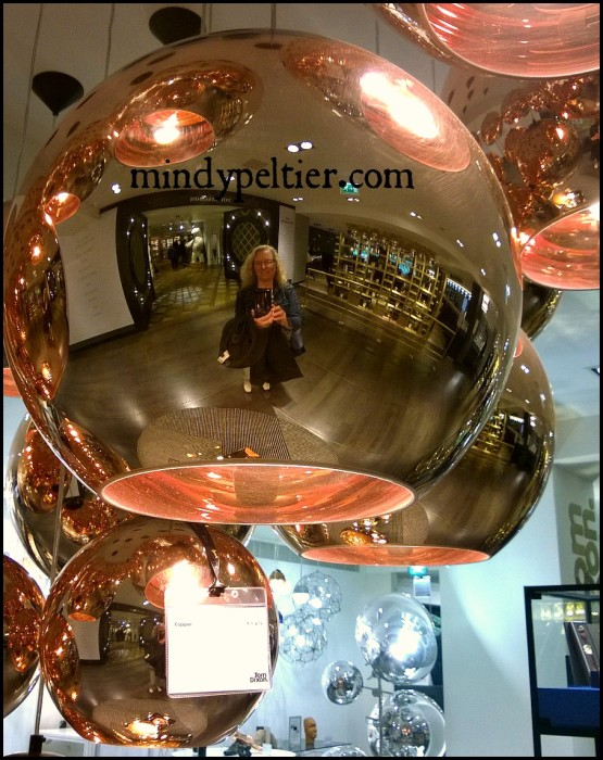 @MindyJPeltier reflected in a copper lamp shade at Harrods in London. Yes, that Harrods. No, I didn't buy it!