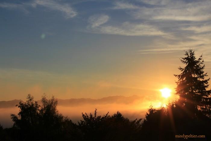 Sun Sits on the Fog