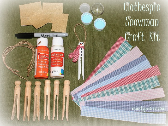 Clothespin Snowman Craft Kit @MindyJPeltier