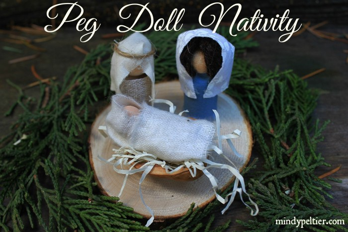 Peg Doll Nativity @MindyJPeltier