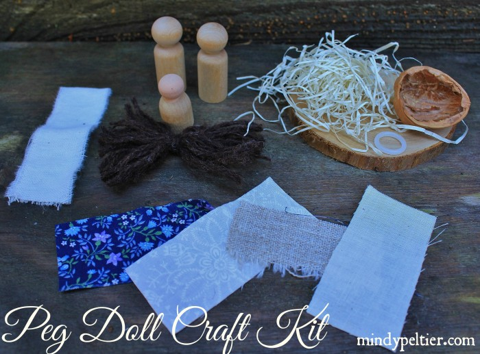 Peg Doll Nativity Craft Kit @MindyJPeltier