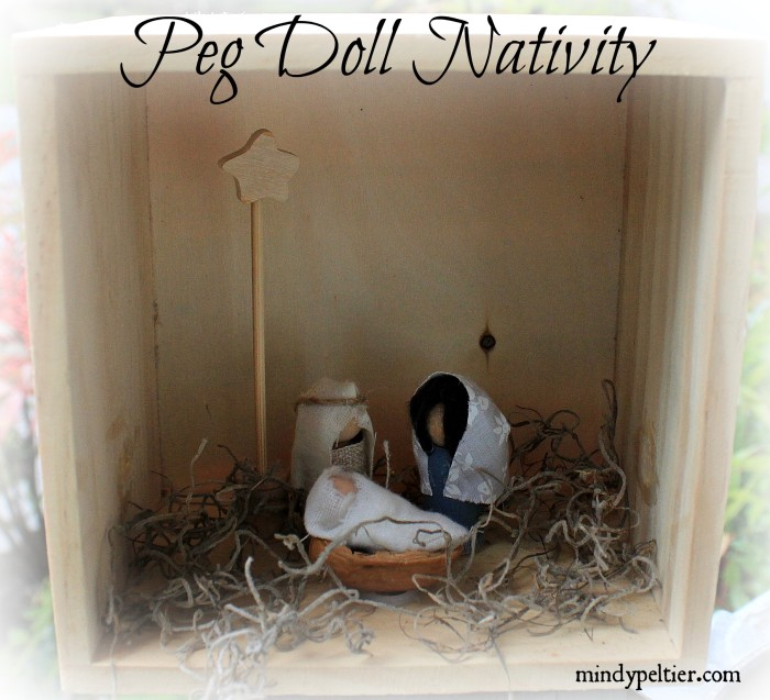 Peg Doll Nativity is Touchable for Toddlers @MindyJPeltier