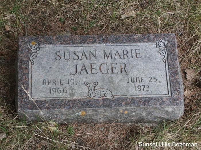 Susie Jaeger's Tombstone