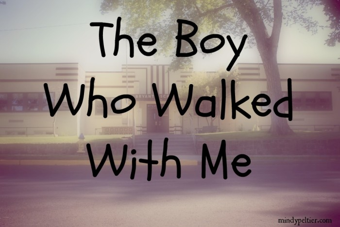 The Boy Who Walked With Me @MindyJPeltier