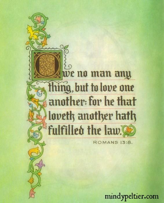 Romans 13:8 @MindyJPeltier