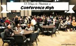 13 Ways to Maintain a Conference High @MindyJPeltier
